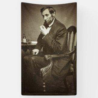 エイブラハム・リンカーン大統領1862 STEREOVIEW 横断幕