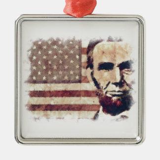 エイブラハム・リンカーン愛国者の大統領 メタルオーナメント