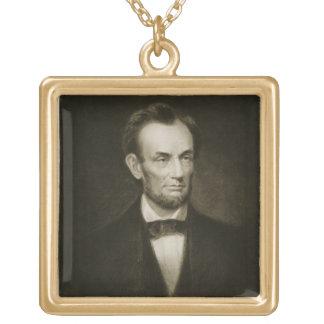 、エイブラハム・リンカーン統一されたなStatの第16大統領 ゴールドプレートネックレス