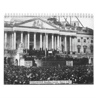 エイブラハム・リンカーン1861年3月4日の就任式 カレンダー