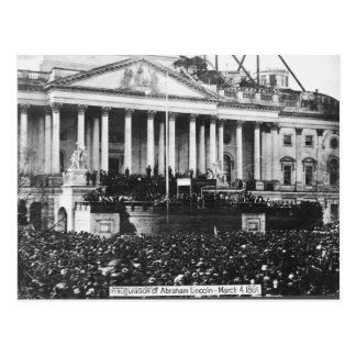 エイブラハム・リンカーン1861年3月4日の就任式 ポストカード
