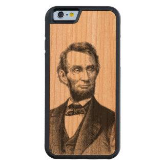 """エイブラハム・リンカーン1865年""""すばらしいemancipator """" CarvedチェリーiPhone 6バンパーケース"""