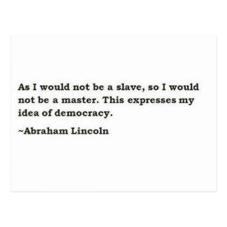 エイブラハム・リンカーン2 ポストカード