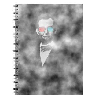 エイブラハム・リンカーン3dガラス ノートブック