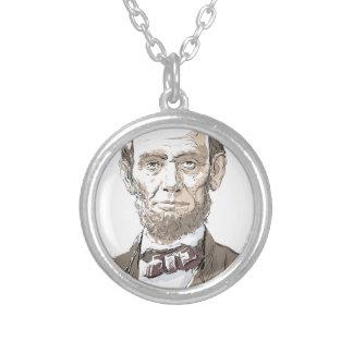 エイブラハム・リンカーン シルバープレートネックレス