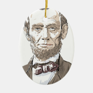 エイブラハム・リンカーン セラミックオーナメント