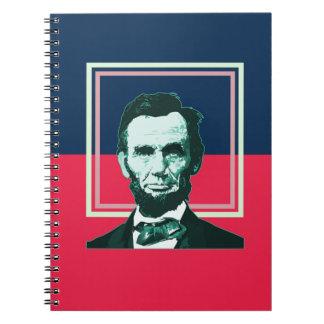 エイブラハム・リンカーン-レトロ ノートブック