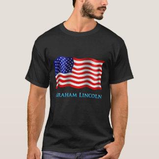 エイブラハム・リンカーン-基本的な暗いTシャツ Tシャツ