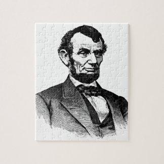 エイブラハム・リンカーン-白黒スケッチ ジグソーパズル