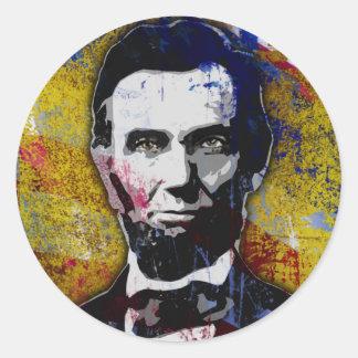 エイブラハム・リンカーン-絵画 ラウンドシール