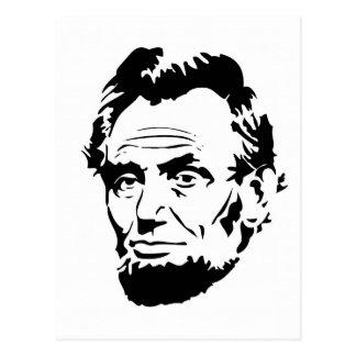 エイブラハム・リンカーン、黒及び白 ポストカード