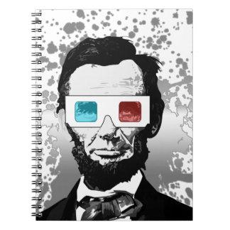 エイブラハム・リンカーン- 3D (2) ノートブック