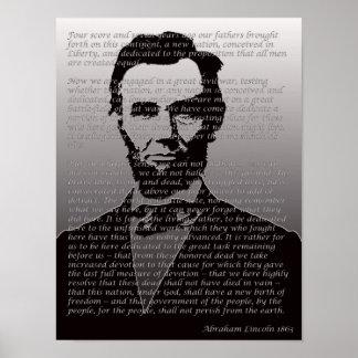 エイブラハム・リンカーンGettysburgの住所ポートレートポスター ポスター