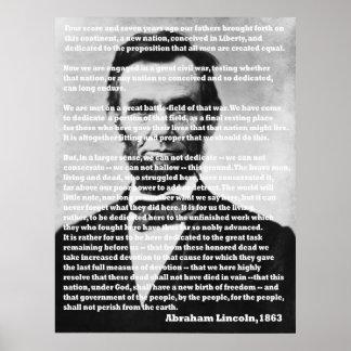 エイブラハム・リンカーンGettysburgの住所ポートレート ポスター