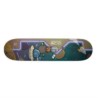 エイリアンのスケートボードによって宇宙で待伏せされる宇宙飛行士 スケートボード