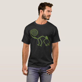エイリアンのNazca古代ライン猿(緑) Tシャツ