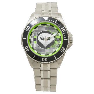 エイリアンTVの円形のクラシックなステンレス鋼の腕時計 腕時計