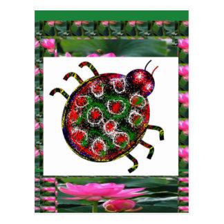 エキゾチックなてんとう虫のグラフィックアート ポストカード
