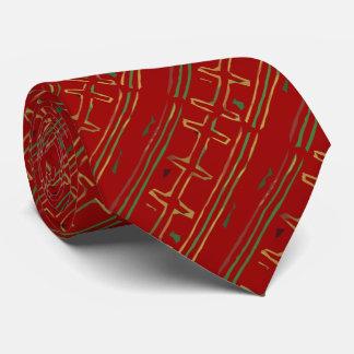 エキゾチックなアフリカの泥の布パターン オリジナルネクタイ