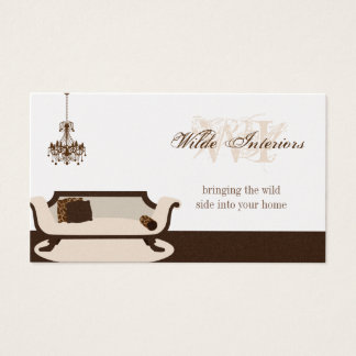 エキゾチックなキリンのインテリア・デザイン: 名刺