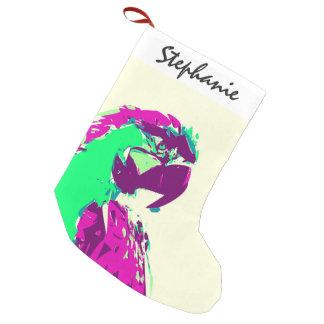 エキゾチックなネオンカラフルなオウムの鳥 スモールクリスマスストッキング