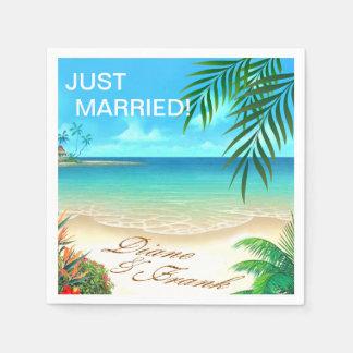 エキゾチックなビーチは私に砂のあなたの名前を引出すために尋ねます スタンダードカクテルナプキン