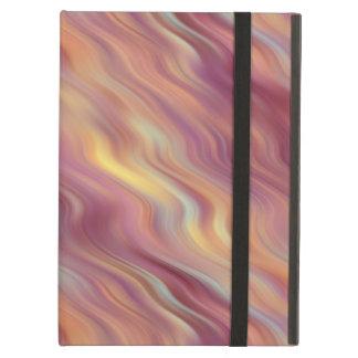 エキゾチックなプルメリアの波状の質 iPad AIRケース