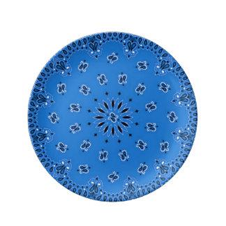 エキゾチックなペイズリーの西部のバンダナBBQのスカーフのプリント 磁器プレート