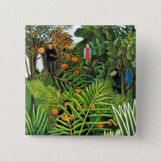 エキゾチックな景色   (Paysage Exotique) 5.1cm 正方形バッジ