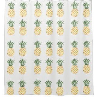 エキゾチックな水彩画のパイナップル シャワーカーテン