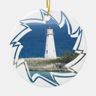 エキゾチックな灯台オーナメント セラミックオーナメント