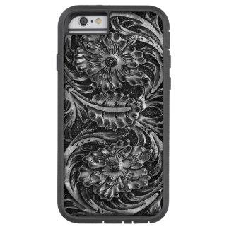 エキゾチックな用具を使われたレザールックの|の木炭 TOUGH XTREME iPhone 6 ケース