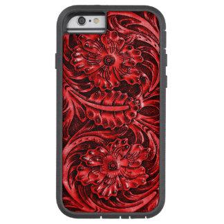 エキゾチックな用具を使われたレザールックの|の赤 TOUGH XTREME iPhone 6 ケース
