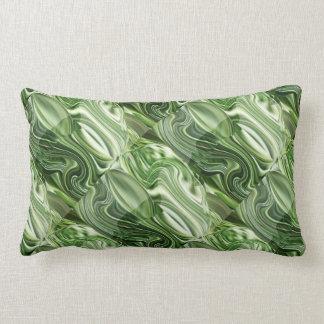 エキゾチックな緑のVegies: 芸術的でカラフルなOneOFaKIND ランバークッション