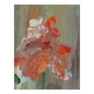 エキゾチックな花の印象派の抽象芸術の花柄 チラシ
