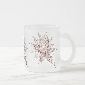 エキゾチックな花 フロストグラスマグカップ
