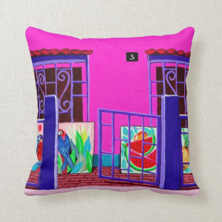 エキゾチックな芸術家の家の一見の枕 クッション