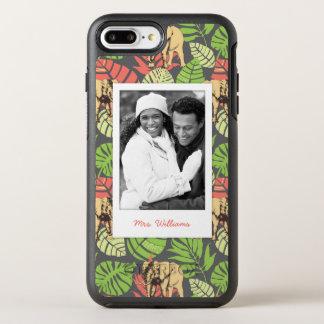 エキゾチックな葉及び象は|あなたの写真を加えましたり及び示します オッターボックスシンメトリーiPhone 8 PLUS/7 PLUSケース
