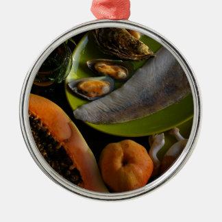 エキゾチックな食糧 メタルオーナメント