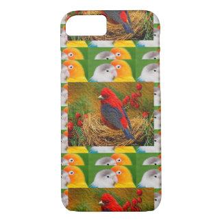 エキゾチックな鳥の子供のお母さんの姉妹の動物園の空想ペット iPhone 8/7ケース