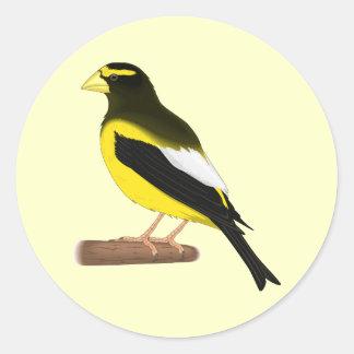 エキゾチックな鳥 ラウンドシール