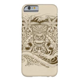 エキゾチックなTikiの島のポッドキャストのロゴ Barely There iPhone 6 ケース