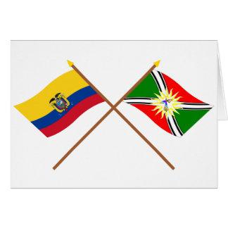 エクアドルおよびサント・ドミンゴの交差させた旗 カード