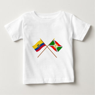 エクアドルおよびサント・ドミンゴの交差させた旗 ベビーTシャツ