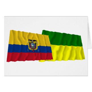 エクアドルおよびMoronaサンティアゴの振る旗 カード