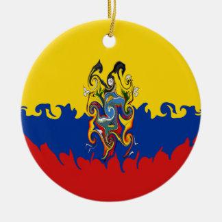 エクアドルのすごい旗 セラミックオーナメント