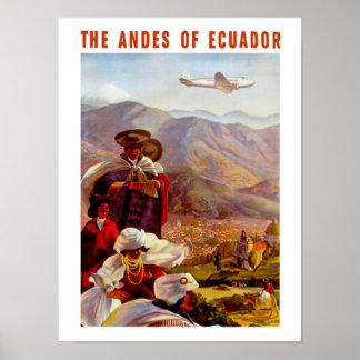 エクアドルのアンデス ポスター