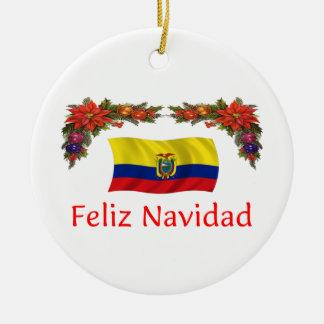 エクアドルのクリスマス セラミックオーナメント