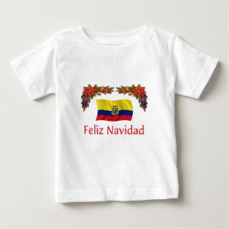 エクアドルのクリスマス ベビーTシャツ