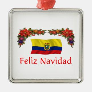 エクアドルのクリスマス メタルオーナメント